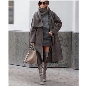 Zara wrap collar coat NWT